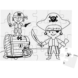 Teach Me puzzel wit piraten A5 14,7 x 20,5 cm 24 stukjes