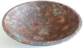 MDF schaal Ø 14,7 cm bewerkt met Trenddekor Rost (roest effekt)