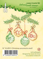 Leane Creatief clear stamp Christmas ornaments small 55.0911