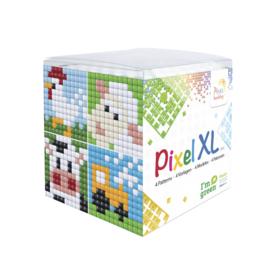 Pixelhobby XL mosaic kubussetje boerderij 6,2 x 6,2 cm