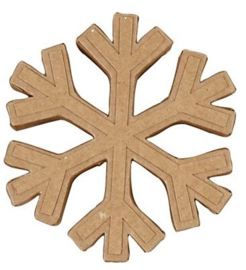 Sneeuwster van bruin papier-mâché Ø 11,3 cm dikte 2 cm