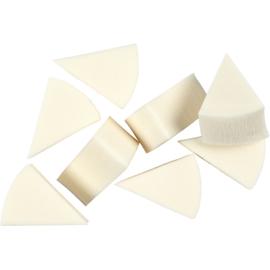 Sponzen driehoek 3 x 4 cm dikte 2 cm 8 stuks