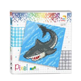 Pixelhobby Pixel set haai 12 x 12 cm