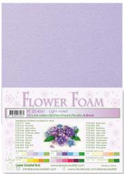Leane Creatief Flower Foam vel A4 light violet (licht violet) 25.4261 dikte 0,8 mm