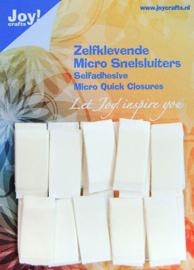 Joy!Crafts Zelfklevende Micro Snelsluiters 1,2 x 2,7 cm 24 stuks 6500/0090