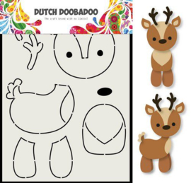 Dutch Doobadoo Card Art A5 rendier hoogte 18,5 cm mal 470.713.796