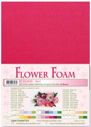 Leane Creatief Flower Foam vel A4 red (rood) 25.4230 dikte 0,8 mm
