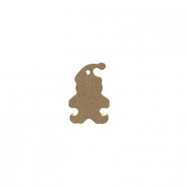 Gomille MDF Kerstman 3,7 x 5,5 cm dikte 5 mm met ophangoog