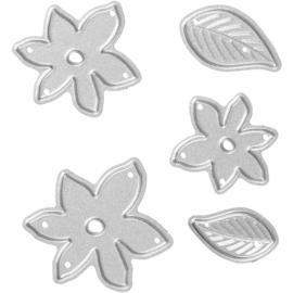 Creotime Tools die cut snijmal bloemen en bladeren