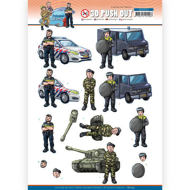 Yvonne Creations Big Guys Professions Police 3D push out SB10552 stansvel A4