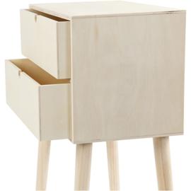 Made of Wood bijzettafel met 2 lades triplex 39 x 61 cm diepte 24 cm