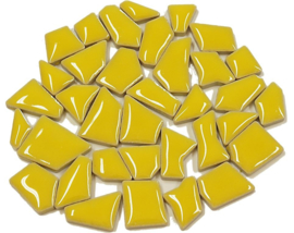 Flip keramische mini mozaïek mais geel bakje à 65 gram