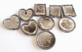 Plastic  ornamenten zilverkleurig 9 stuks assorti