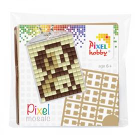 Pixelhobby Pixel mosaic medaillon startset hond sleutelhanger