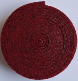 HobbyFun Trendy viltband rood 1,5 m lang 2 cm breed en 3 mm dik