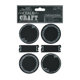 Docrafts Papermania Chalkboard Stickers Doodle Circles PMA 355408
