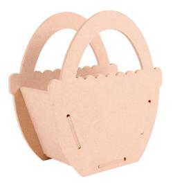 MDF 3D Pronty basket (mandje) 15,7 x 17 x 7,8 cm dikte 4 mm 460.423.500