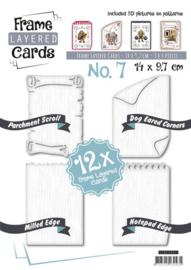 Find It frame layered cards 14 x 9,7 cm nummer 7 LCA610007