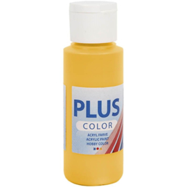 Plus Color acrylverf yellow sun (gele zon) fles 60 ml