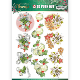 Jeanine's Art Christmas Flowers Bells 3D push out SB10479 stansvel A4
