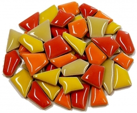 Flip keramische mini mix mozaïek rood/geel/oranje bakje à 65 gram