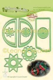 Leane Creatief LeCrea's 3-D dies (mallen) Kerstbal rand glad 45.6197