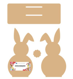 Dutch Doobadoo MDF servethouder Bunny 19,5 x 7,5 cm 460.440.370