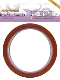 Hobbyjournaal extra sticky tape 6 mm 10 meter HJSTICKY06
