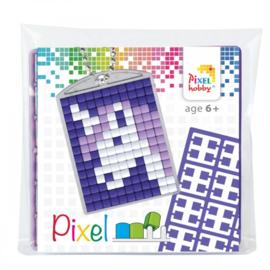 Pixelhobby Pixel mosaic medaillon startset eenhoorn sleutelhanger