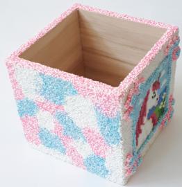 Pakket Pixelhobby eenhoorn, Foam Clay, houten pennenbak