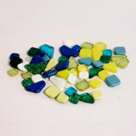 Soft Glas mozaïek glittermix rainbow ice bakje à 65 gram