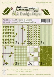 LeCreaDesign Christmas A5 Design Paper 51.8329 Blocks & Stripes