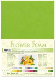 Leane Creatief Flower Foam vel A4 yellow green (geel groen) 25.4308 dikte 0,8 mm