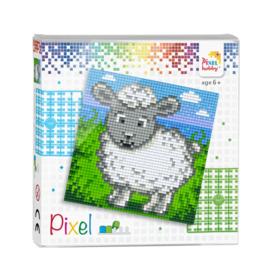 Pixelhobby Pixel set schaap 12 x 12 cm