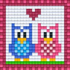 Pixelhobby basisplaat rood klein 6 x 6 cm