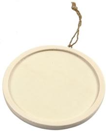 Triplex lijst rond Ø 11,2 cm dikte 8 mm met ophangkoord