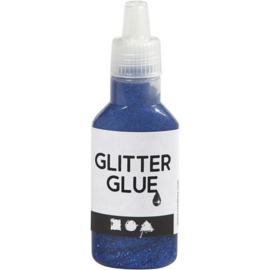 Glitterlijm donkerblauw flesje 25 ml 318250
