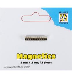 Nellie Snellen Design magnetics Ø 5 mm dikte 2 mm 12 stuks STBM002