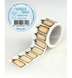 Leane Creatief Washi Tape Labels klein 5 meter 61.7118