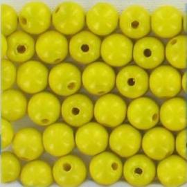 Houten kralen geel 60 stuks Ø 10 mm 85-810-204