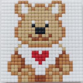 Zelfgemaakte Pixelhobby magneet bear 6 x 6 cm