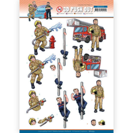 Yvonne Creations Big Guys Professions Fire Department 3D push out SB10553 stansvel A4