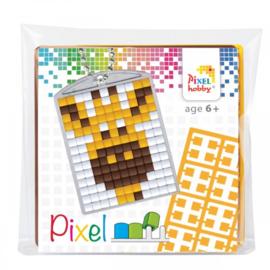 Pixelhobby Pixel mosaic medaillon startset giraf sleutelhanger