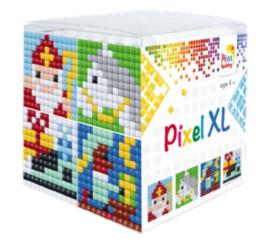 Pixelhobby XL mosaic kubussetje Sinterklaas 1 6,2 x 6,2 cm