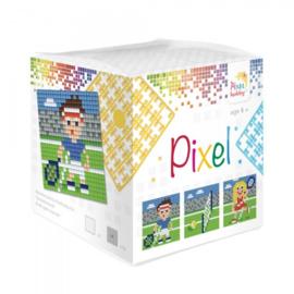 Pixelhobby Pixel mosaic kubussetje tennis 6,2 x 6,2 cm
