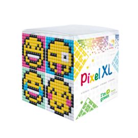 Pixelhobby XL mosaic kubussetje smileys 6,2 x 6,2 cm