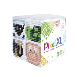 Pixelhobby XL mosaic kubussetje dieren (2) 6,2 x 6,2 cm