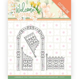 Jeanine's Art Welcome Spring Arch and Fence frame die (mal) JAD10113