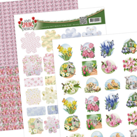 Amy Design Spring mini's & labels A4 ADMIN10002