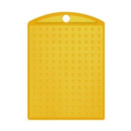 Pixelhobby medaillon plaatje transparant geel 3 x 4 cm